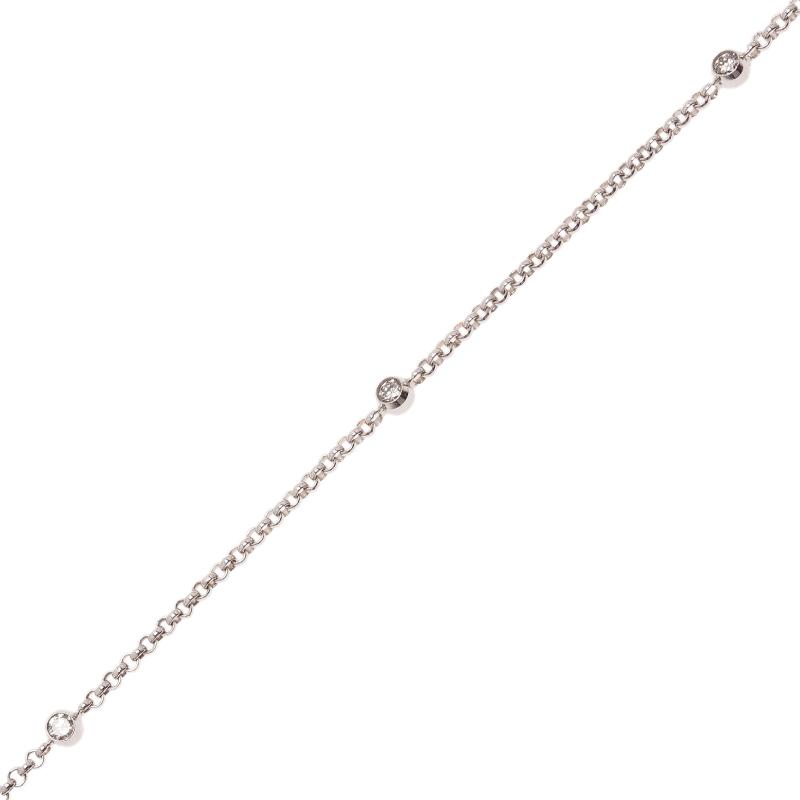 Chopard Diamond 18K White Gold Soft Bracelet