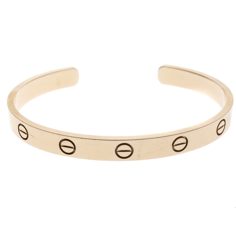 Купить со скидкой Cartier Love Open Cuff Rose Gold Bracelet 17cm
