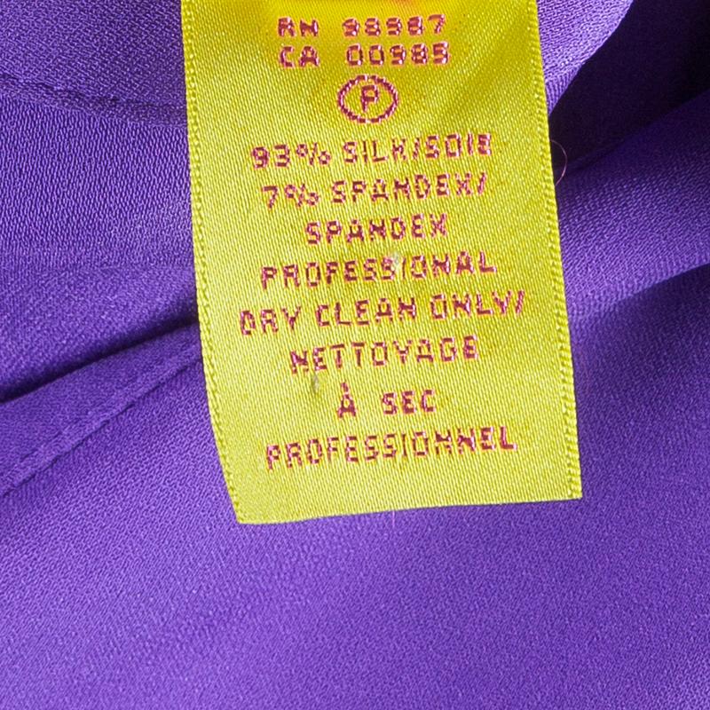 Catherine Malandrino Purple Ruched Zip Top XL