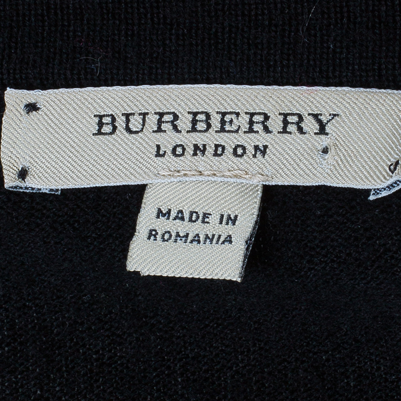 Burberry Black Novacheck Knit Top S