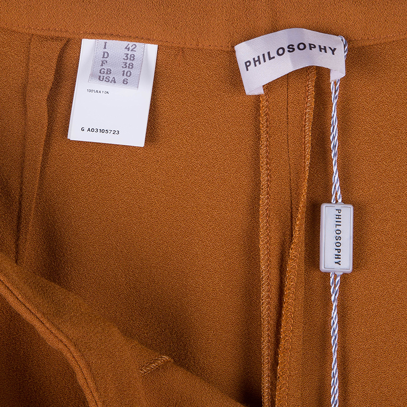 Philosophy di Alberta Ferretti Tangerine Tapered Pants M