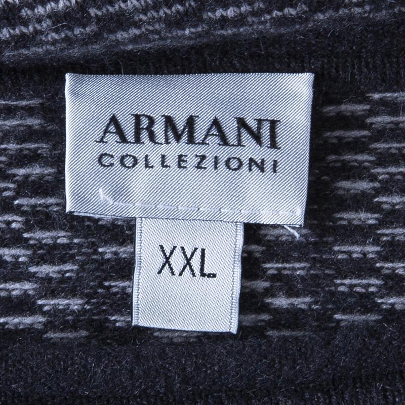 Armani Collezioni Men's Grey Cashmere Sweater XXL