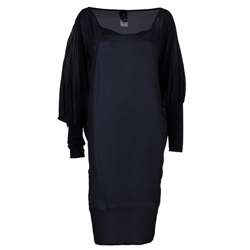 Just Cavalli Sheer Black Dress L
