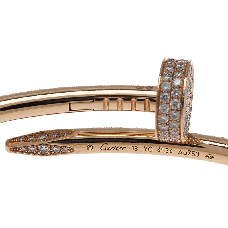 Cartier Juste Un Clou Diamond Paved Rose Gold Bracelet