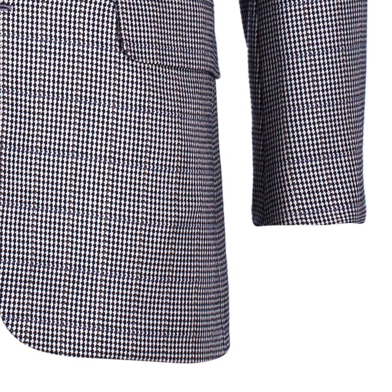 Brioni Men's Multicolor Houndstooth Blazer M