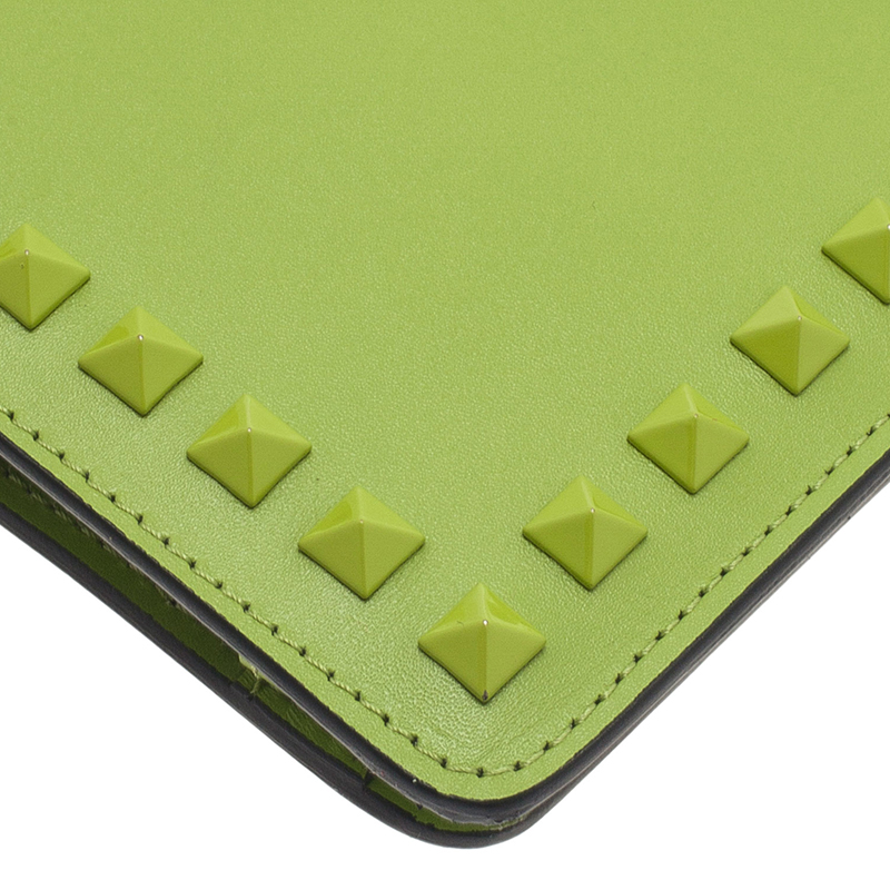 Valentino Green Leather iPad Case