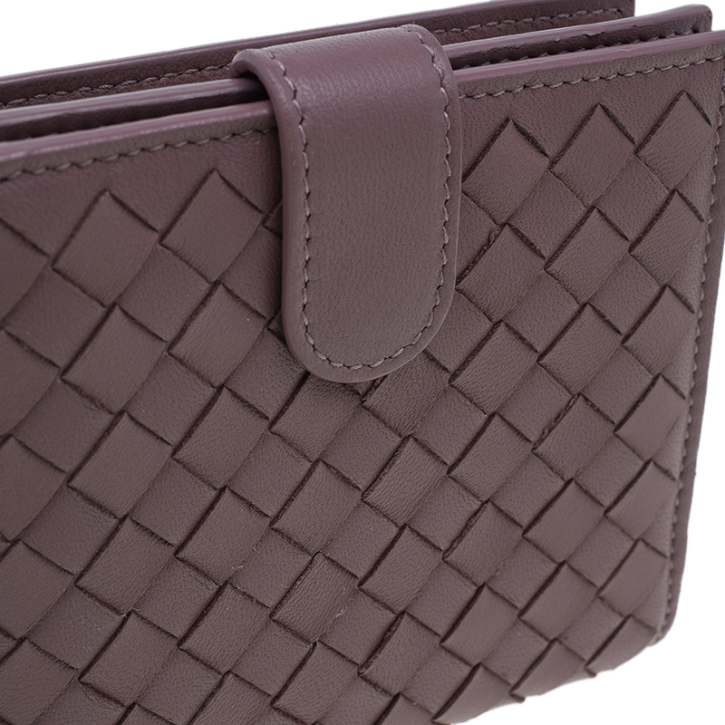 Bottega Veneta Brown Intrecciato Leather Irish Mini Wallet