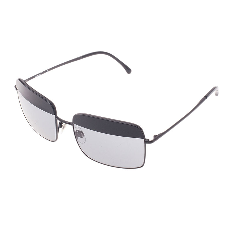 Chanel Black Rimless Square Sunglasses