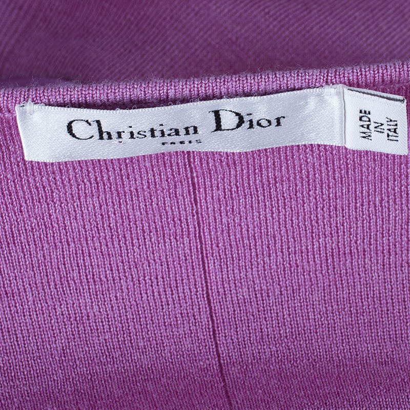 Dior Pink Sleeveles Knit Top S