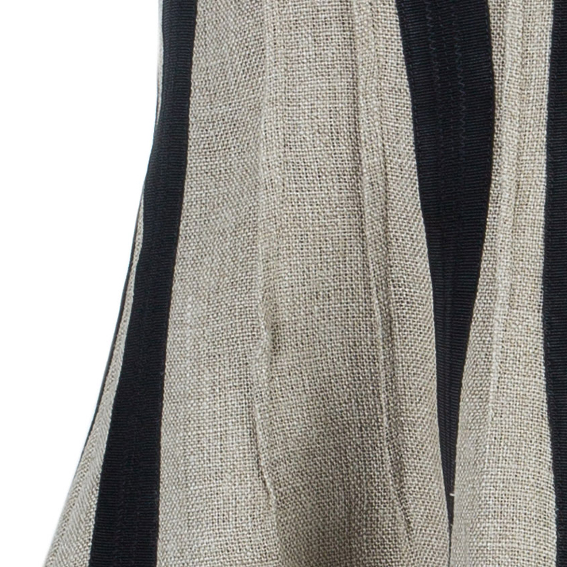 Dolce And Gabbana Beige Black Strapless Structured Dress M