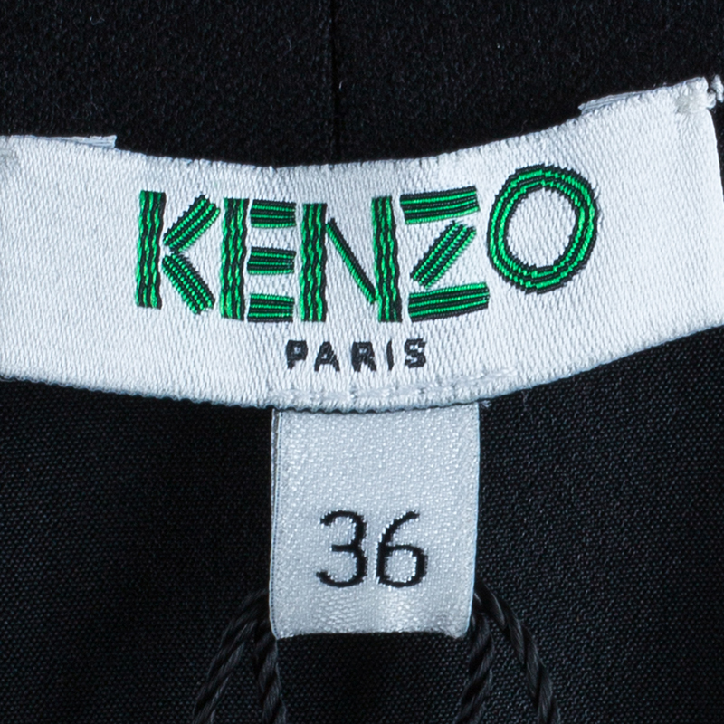 Kenzo Black Brocade Dress S