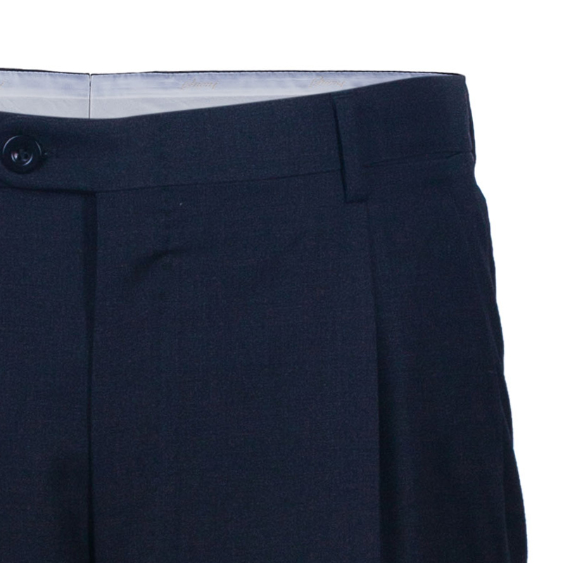 Brioni Men's Black Wool Trouser EU XXL