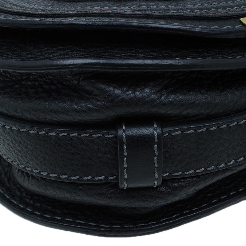Chloe Black Leather Mini Marcie Crossbody Bag