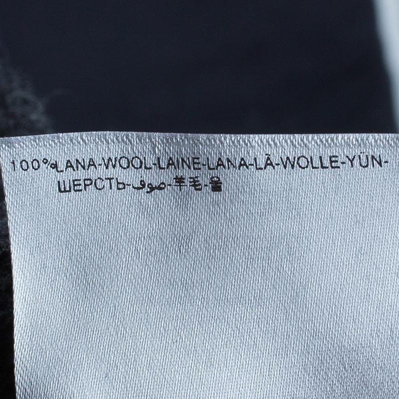 Moncler Men's Grey Turtleneck Cable-knit Pullover M