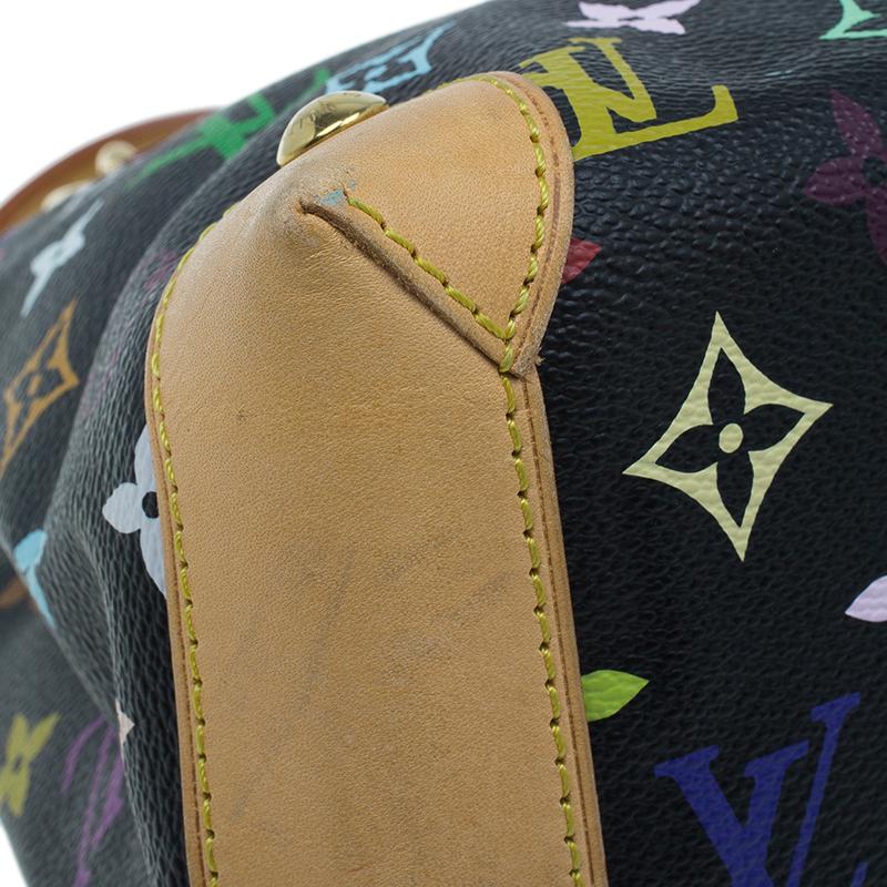 Louis Vuitton Black Monogram Canvas Multicolore Audra Tote Bag