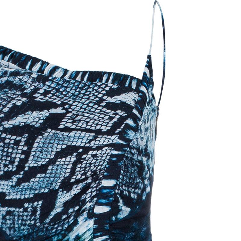 Roberto Cavalli Reptile Print Dress M