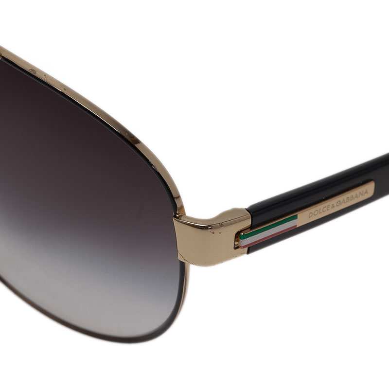 Dolce and Gabbana Black DG 2099 Aviators