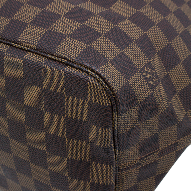 Louis Vuitton Damier Ebene Coated Canvas Neverfull MM
