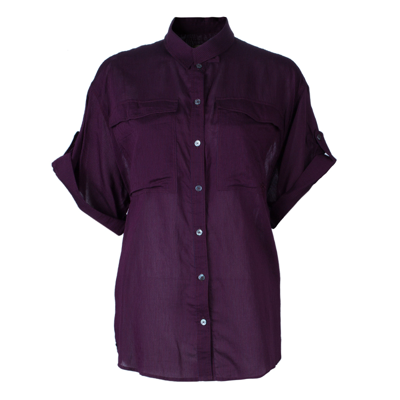 Burberry Brit Purple Striped Top L