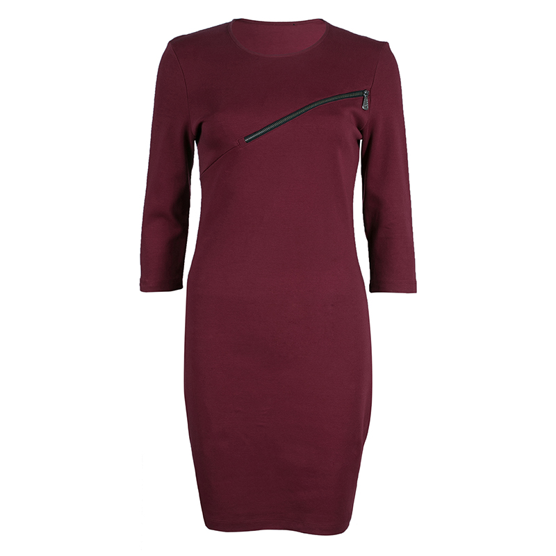 McQ by Alexander McQueen Merlot Zip Detail Dress  M