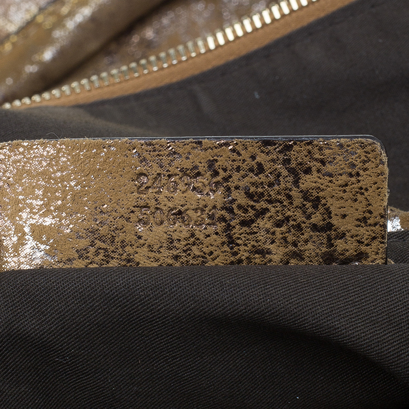 Alexander McQueen Metallic Brown Leather De Manta Tote Bag