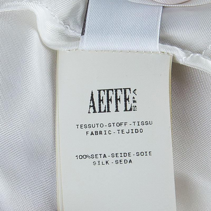 Alberta Ferretti Beige Gathered Dress M
