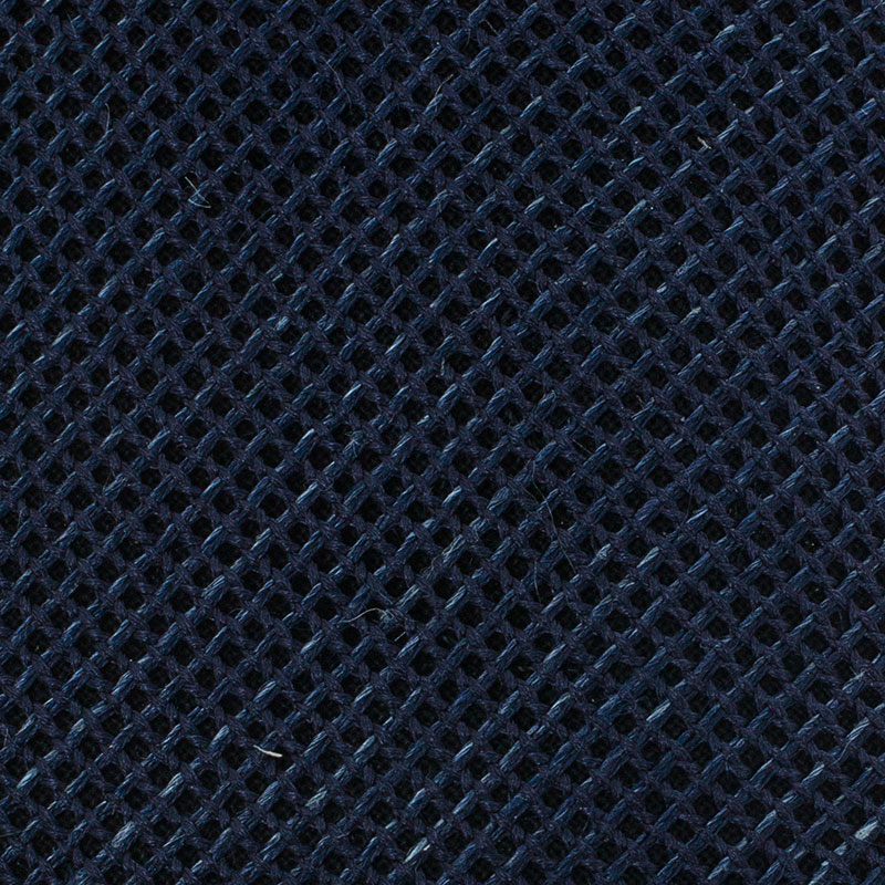 Burberry Navy Blue Woven Silk and Linen Blend Tie