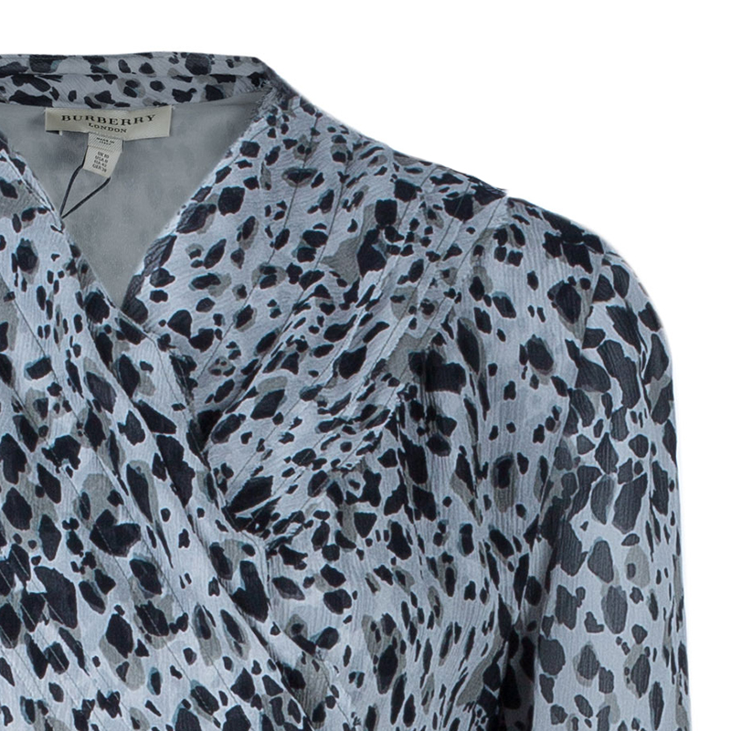Burberry Grey Leopard Print Dress M