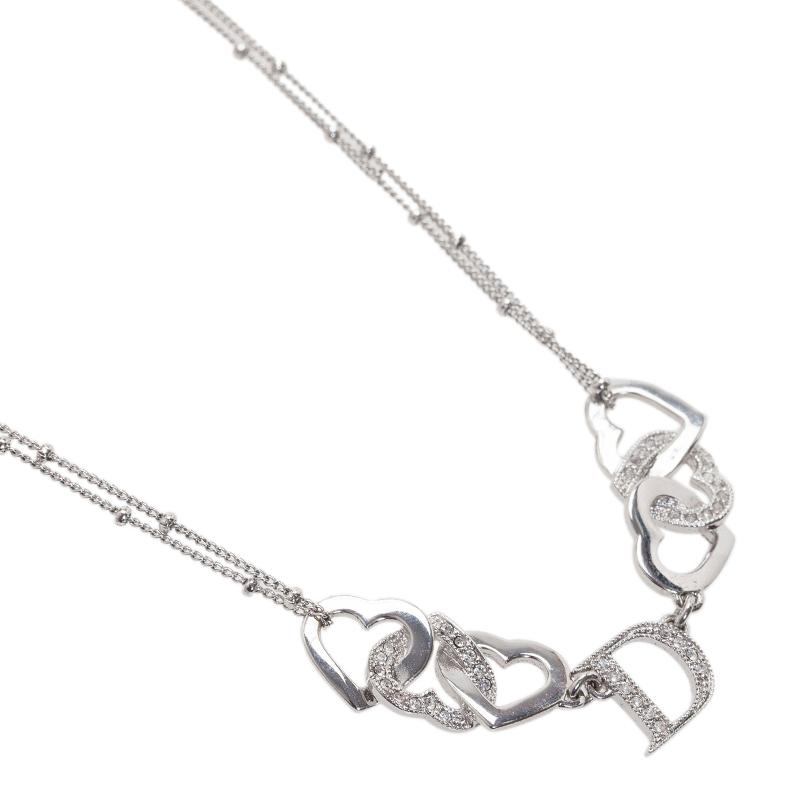 Dior Interlocking Heart Necklace