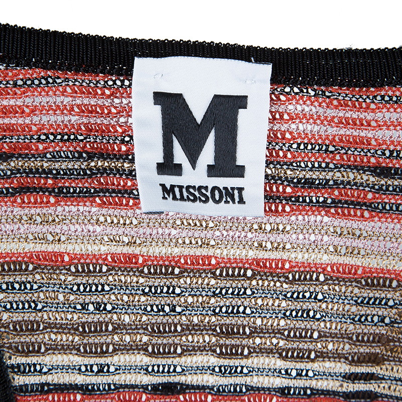 M Missoni Red Multicolor Sleeveless Top M