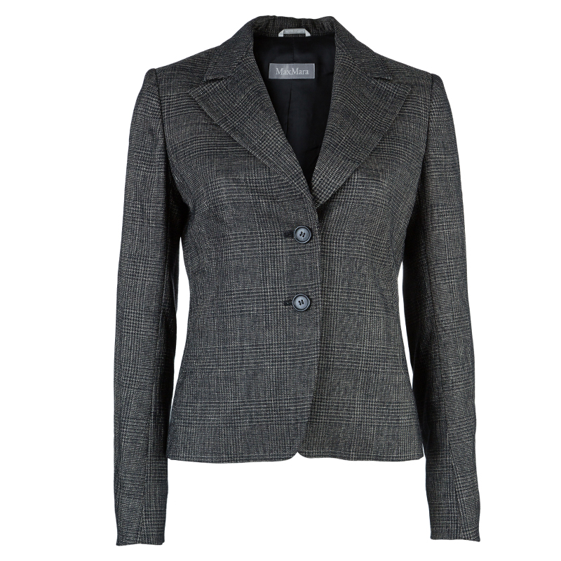 Max Mara Black Tweed Pant Suit S