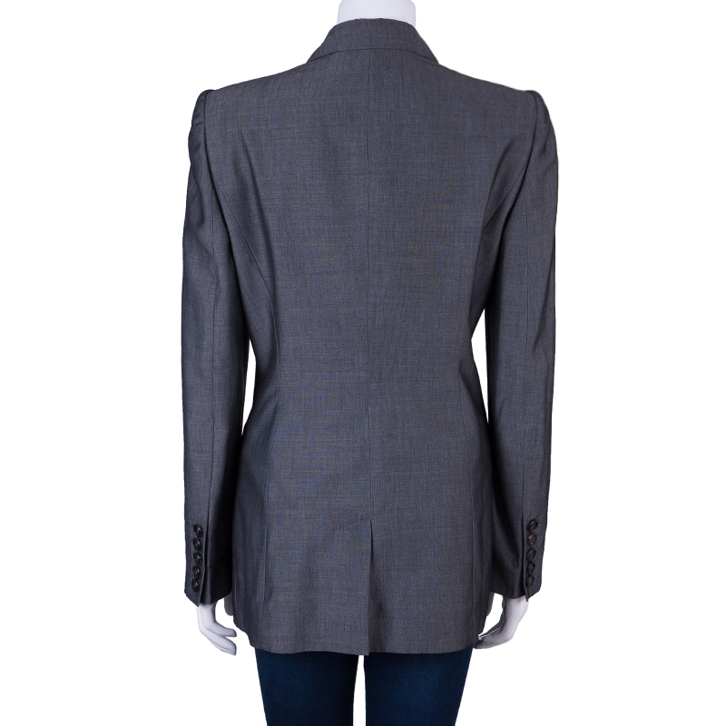 Burberry London Grey Tailored Blazer M