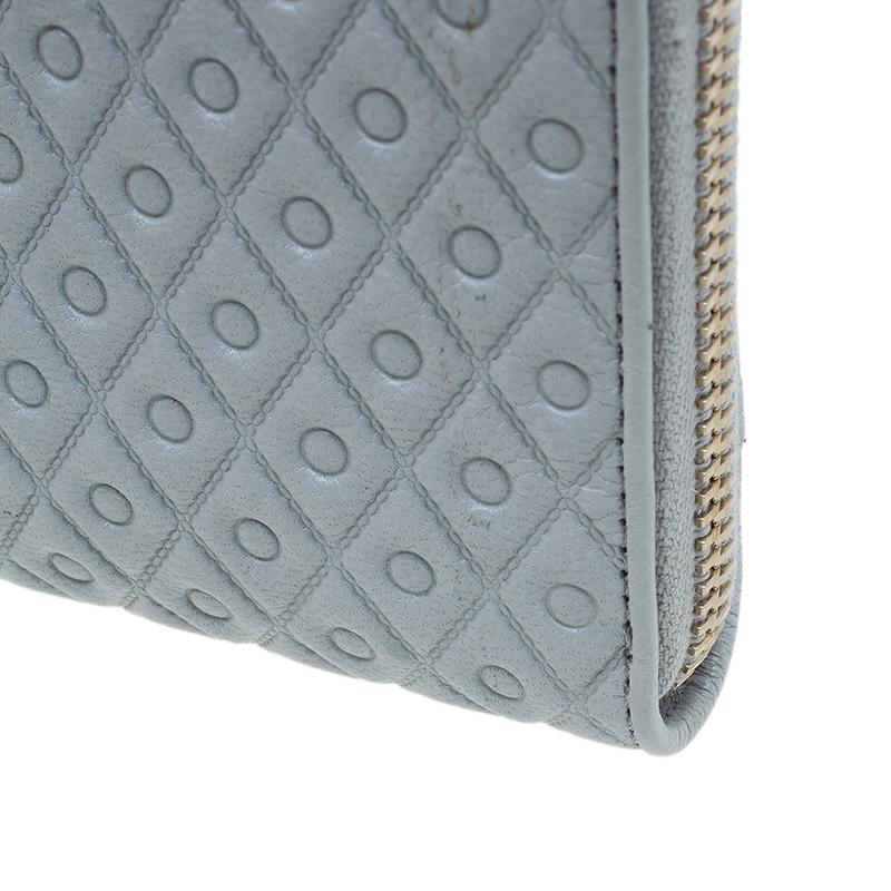Tod's Grey Zip Around Wallet