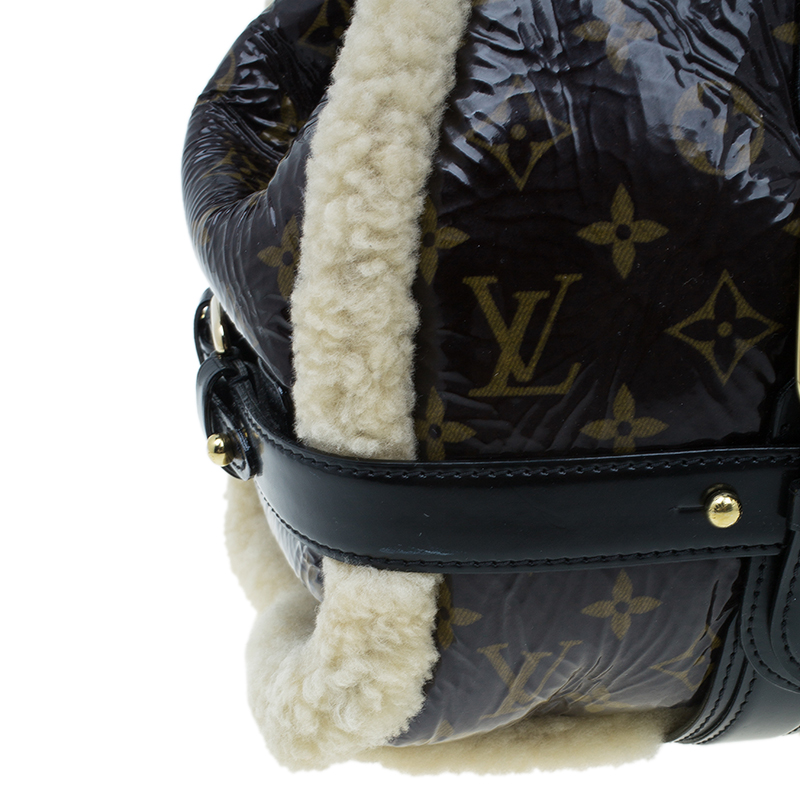 Louis Vuitton Monogram Limited Edition Shearling Storm Bag