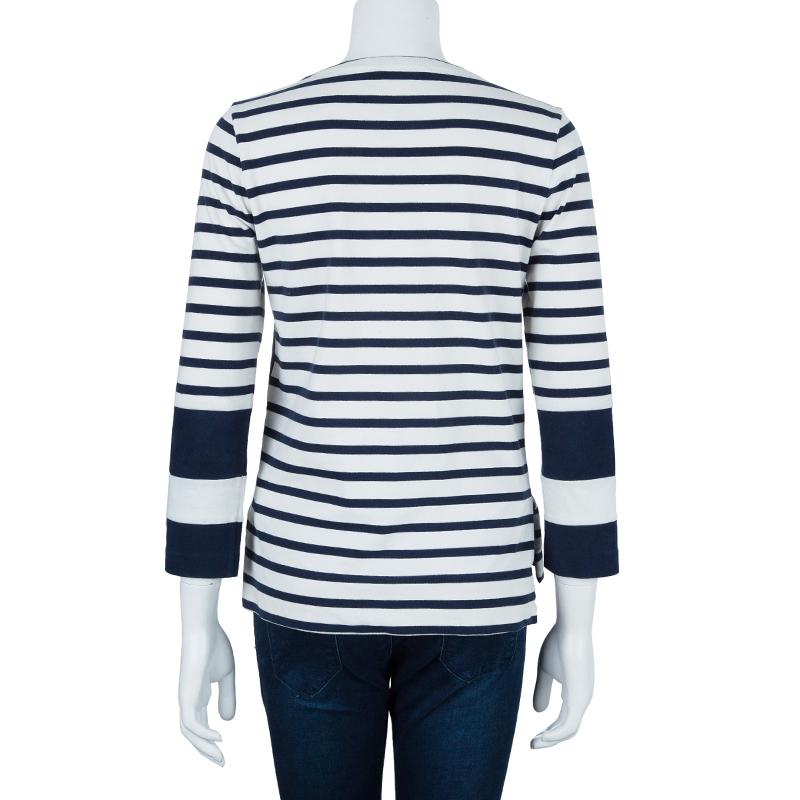 Celine Nautical Striped Top S