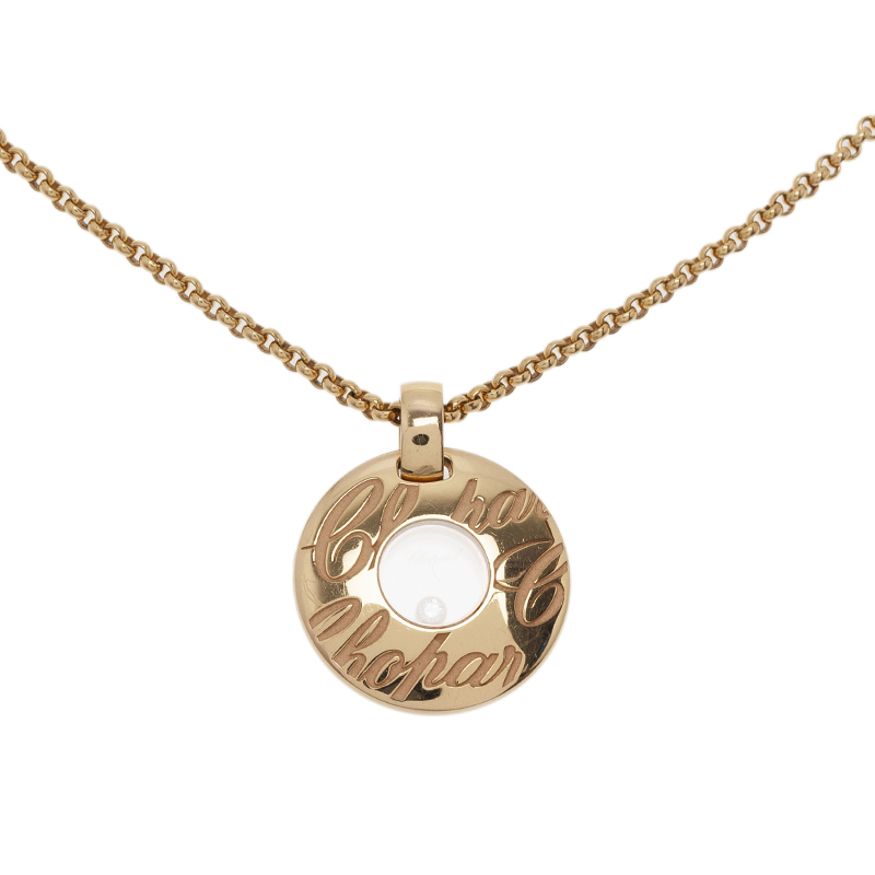 Chopard Chopardissimo Diamond Yellow Gold Pendant Necklace