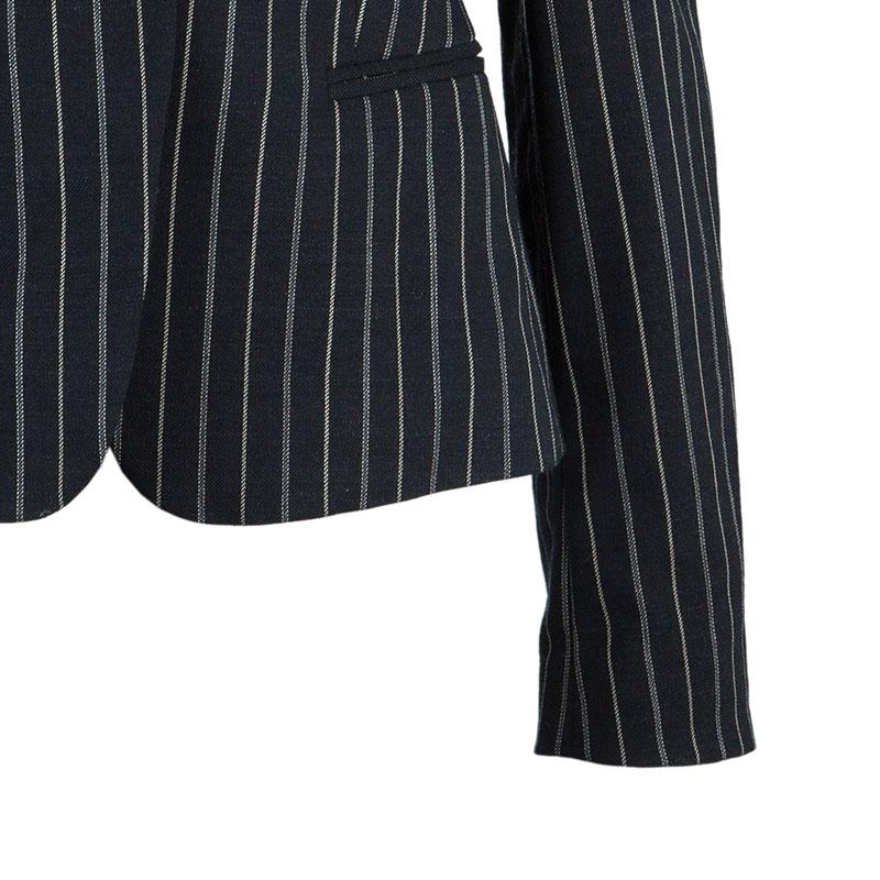 Emporio Armani Black Striped Pant Suit S