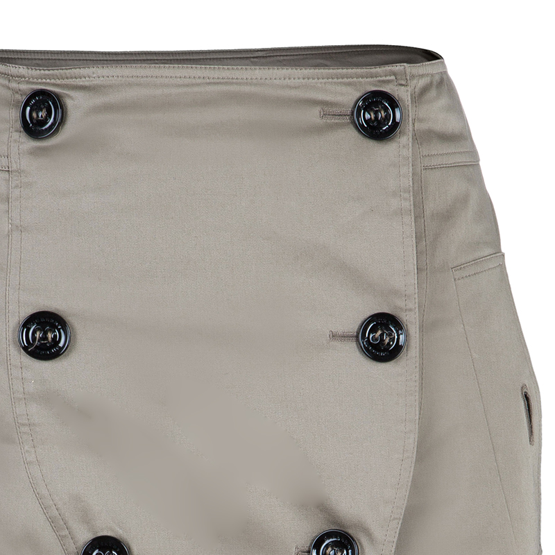 Burberry Beige Button Front Skirt S