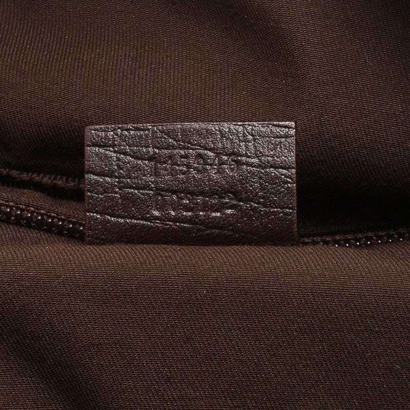 Gucci Beige GG Coated Canvas Boston Travel Bag