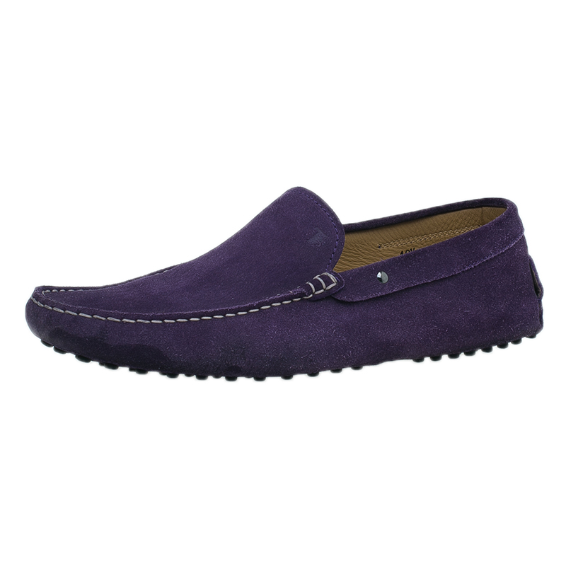 Tod's Purple Suede Loafers Size 44.5