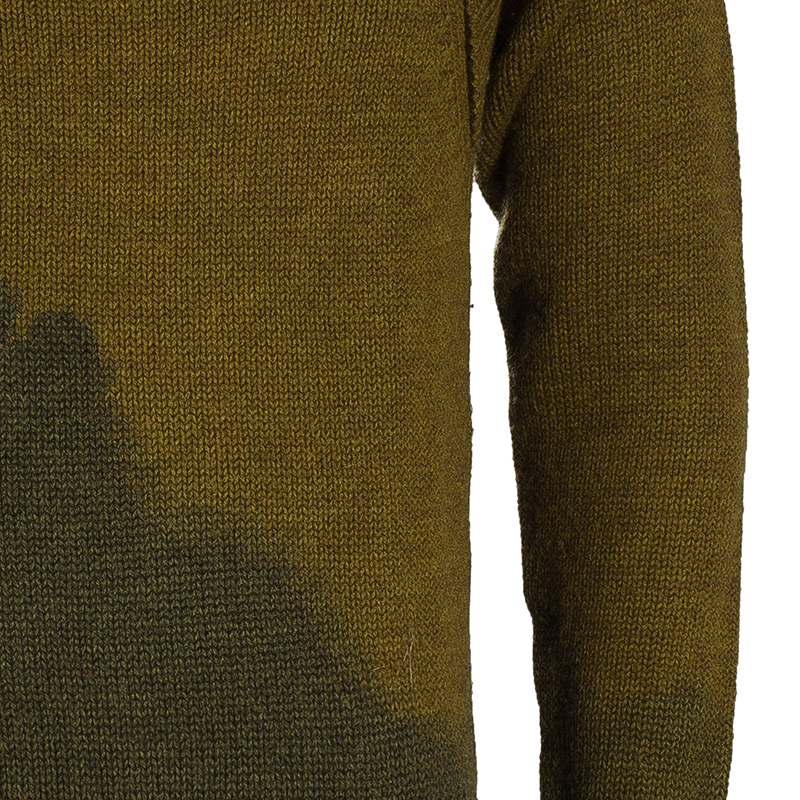 Bottega Veneta Men's Brown Green Knit Sweater M