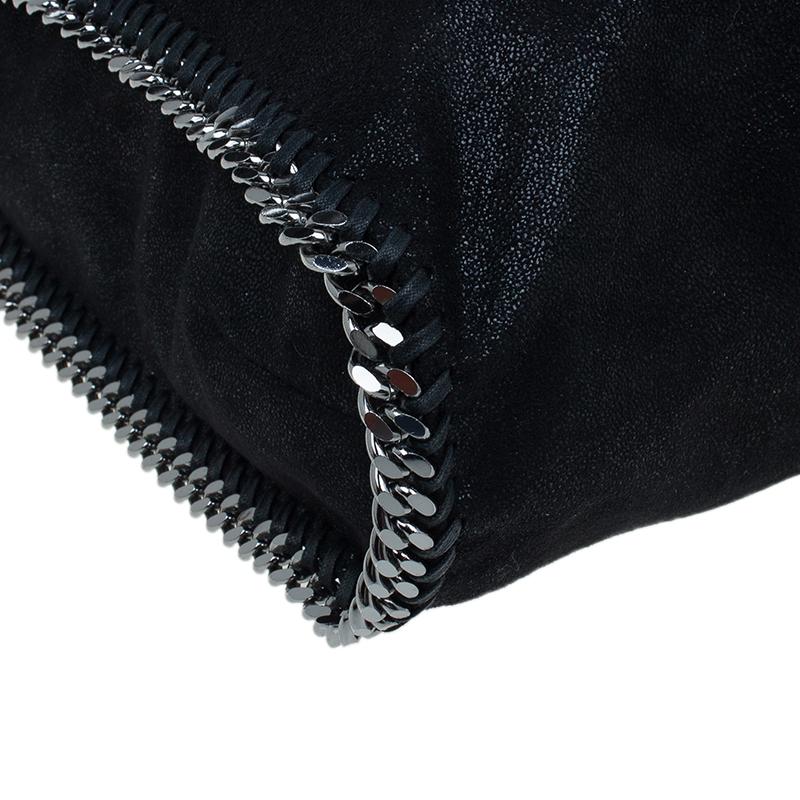 Stella McCartney Black Faux Leather Falabella Tote Bag
