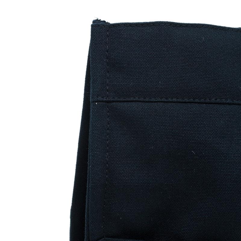Hermès Black Grey Canvas Fourre-tout Tote
