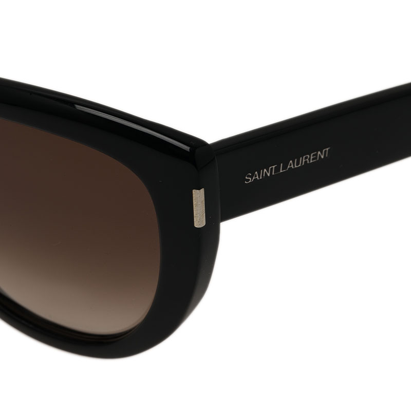 Saint Laurent Paris Black SL 16 Round Sunglasses