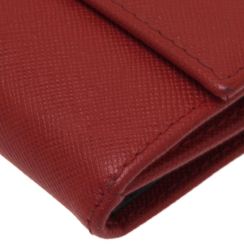 Carolina Herrera Red Leather Compact Wallet