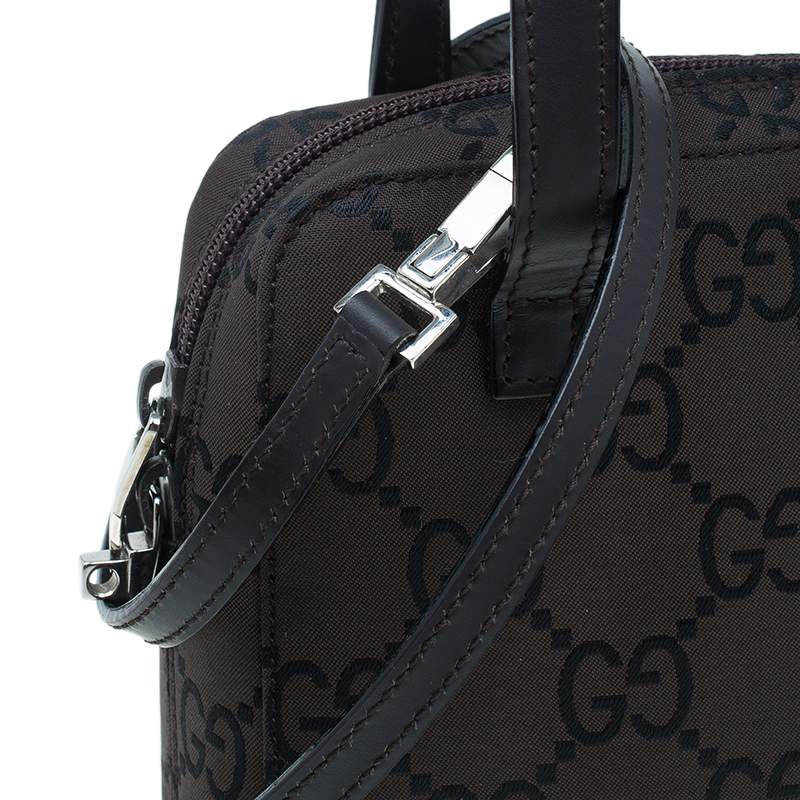 Gucci Brown Canvas 2 ways Small Square Bag