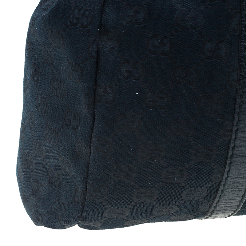 Gucci Black Monogram Canvas New Ladies Web Medium Tote
