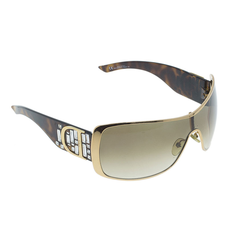 Dior Tortoise Frame Indinight 1 Shield Sunglasses