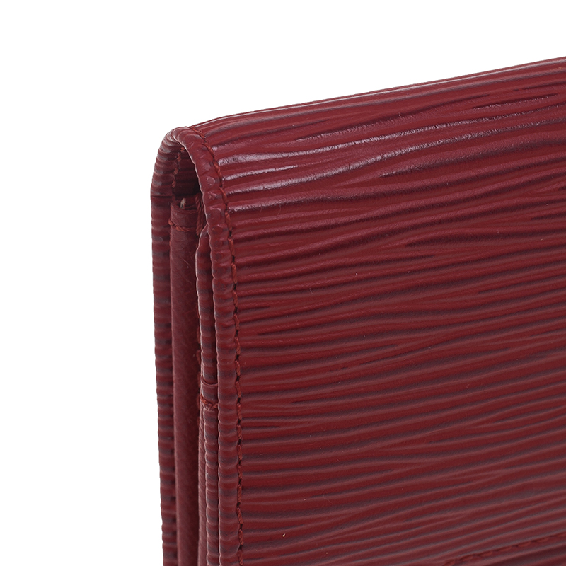 Louis Vuitton Red Epi Leather Sarah Continental Wallet