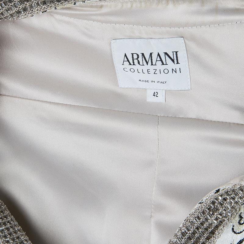Armani Collezioni Monochrome Two-Button Jacket M